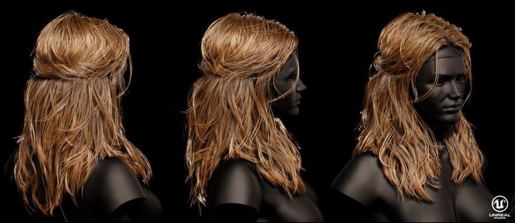 Techniques For Game Character Hair Creation Hair Creations Hair Model Hair