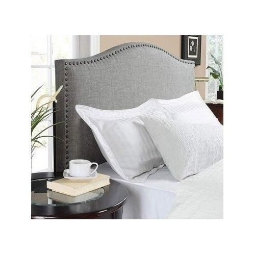 Details About Rounded Upholstered Headboard Padded Bed