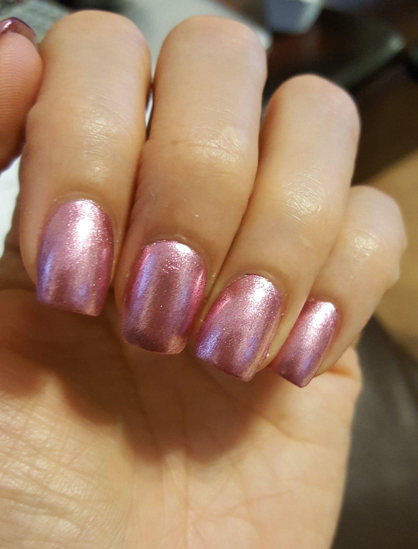 BSN nail polish Silk Shine, metallic pink nails | Nails | Pinterest ...