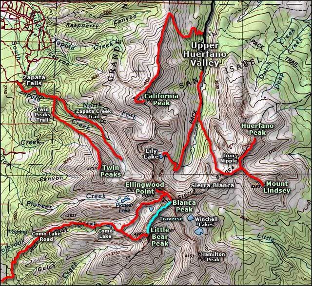 Blanca Colorado Map blanca colorado | Mount Blanca area map | Blanca | Colorado cabins