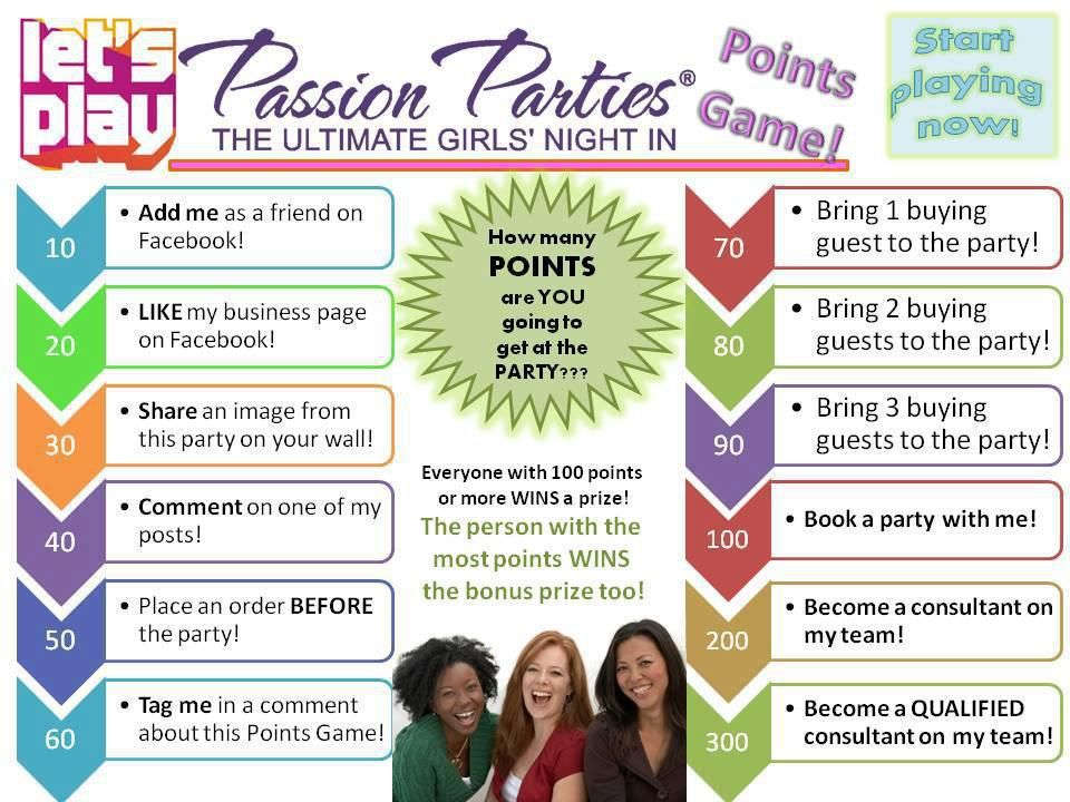 Points Game Passion parties, Pure romance party, Passion