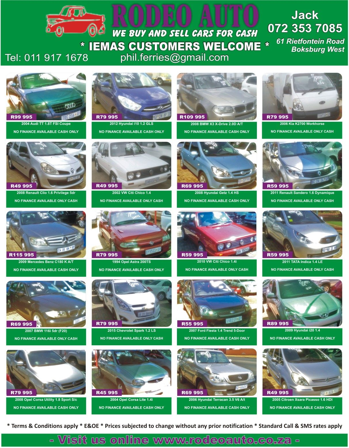 We Buy and Sell cars for cash Rodeo Auto Dont miss