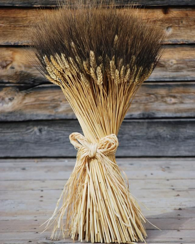 Extra large blackbeard wheat sheaves wedding for Wheat centerpieces