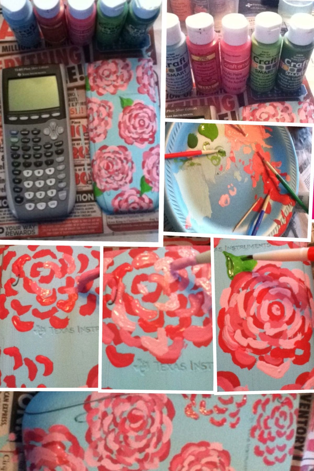 How to paint your graphing calculator diy pinterest for Lilly d s craft supplies