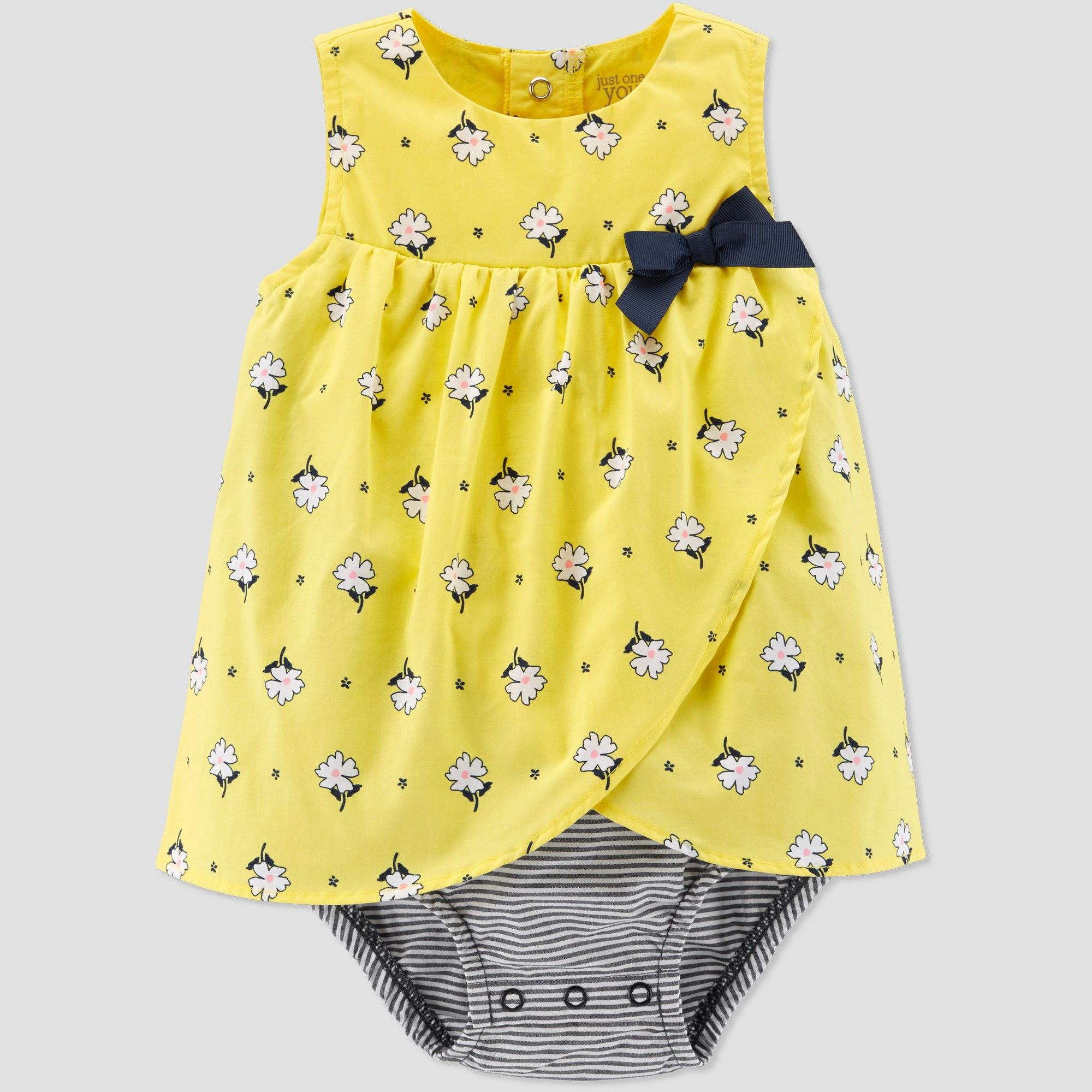 NEW Carter/'s Baby Girls Pink and Yellow Romper Size 3 Months