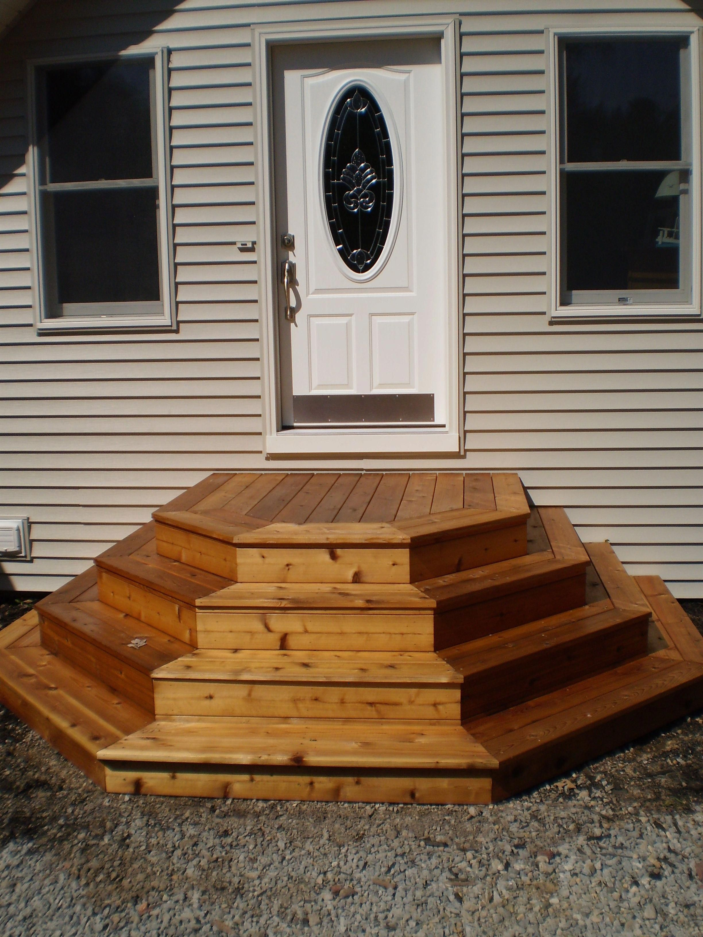Problem Solving Steps 5 Sided Stairs Patio Stairs Concrete Patio Designs Patio Deck Designs