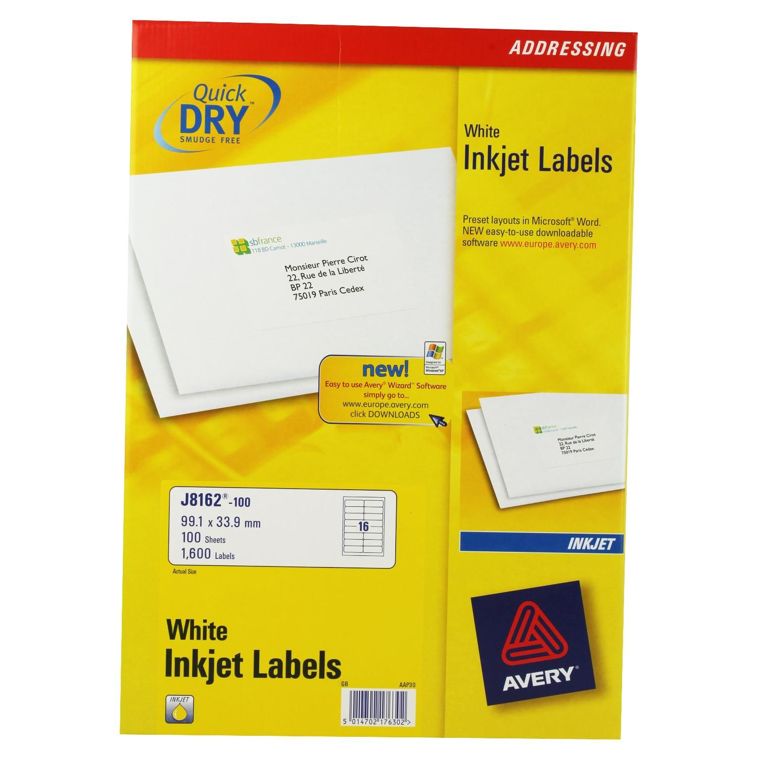 laser labels avery laser label 8 per sheet pack of 25 a