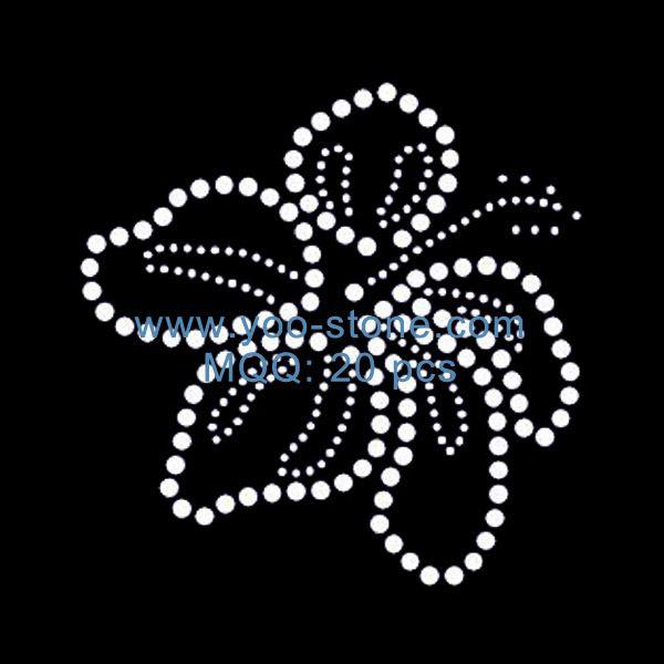 New Product Crystal Hotfix Motif Flower Rhinestone Iron On Transfer Design 1f0197b4a797