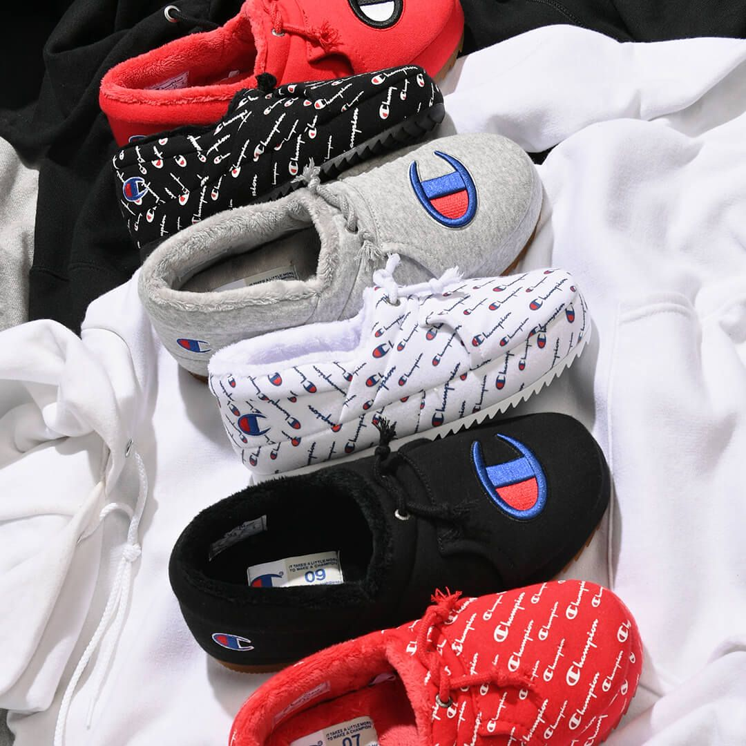 Champion University Slippers Champion Shoes Sneaker Slippers Fluffy Shoes [ 1080 x 1080 Pixel ]