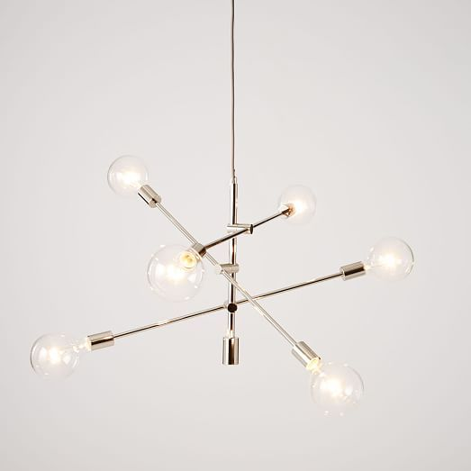 westelm lighting. mobile chandelier large you may not have to center the light since this fixture westelm lighting