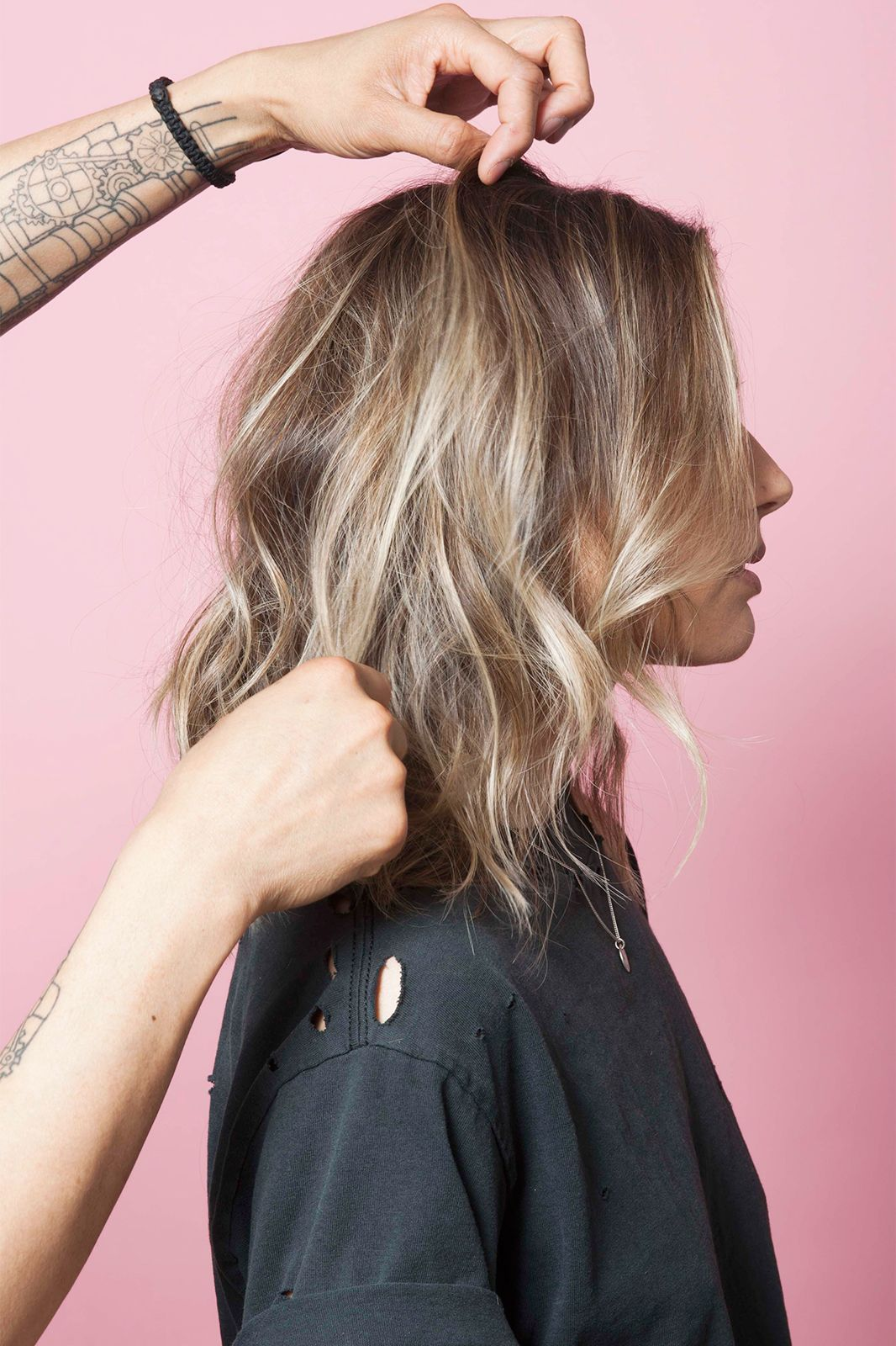 This Is The Secret To A Perfectly-Messy Long Bob  Hair styles