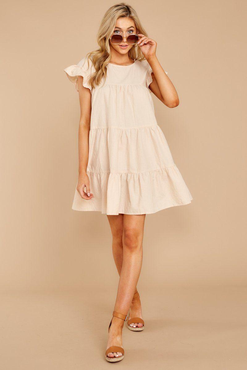 Lovely Beige Babydoll Dress Short Sleeve Shift Dress Dress 42 Red Dress Dresses Babydoll Dress Outfit Beige Dresses [ 1200 x 800 Pixel ]