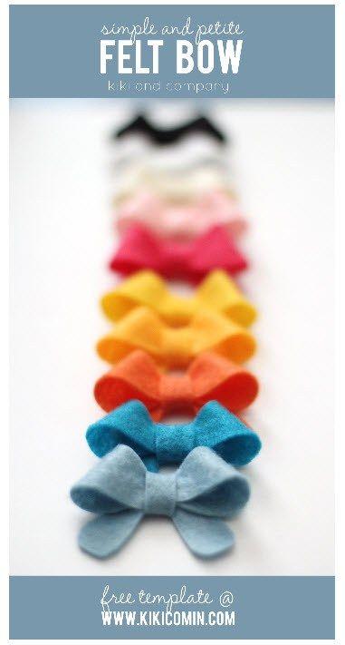 felt bow template Headbands Pinterest Felt bows, Felting and - bow template