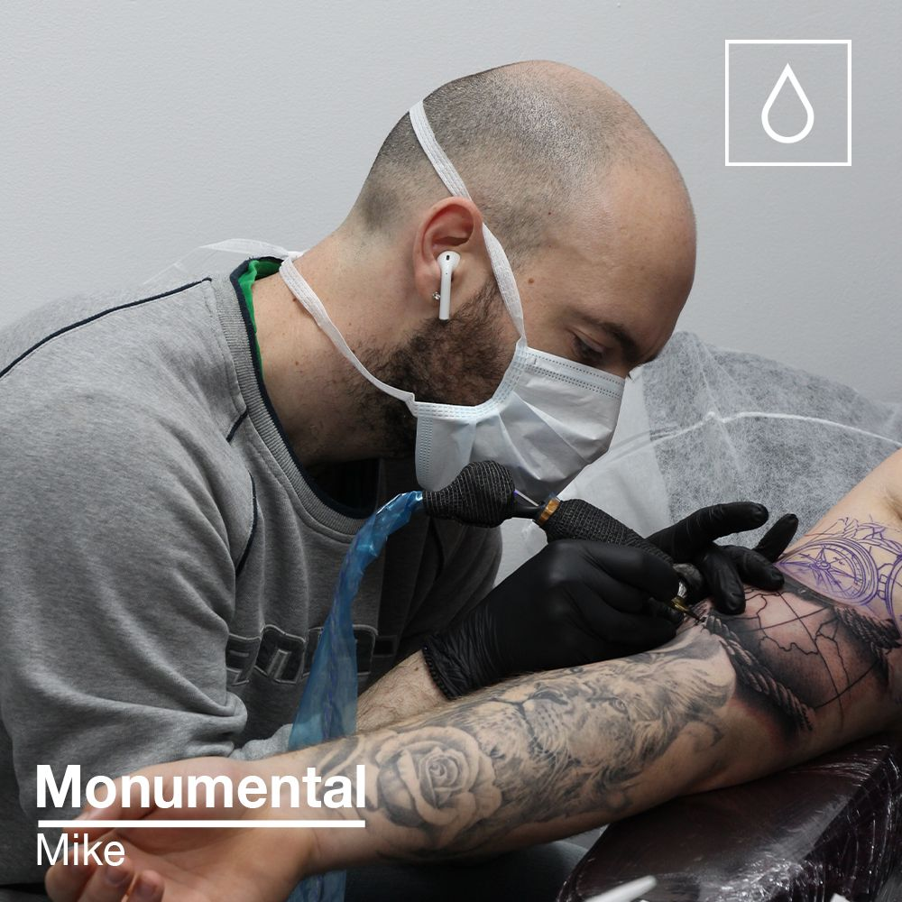 Mike adding the latest piece to a sleeve he's working on at the Colchester studio.  #tattoo #blackandgrey #realism #realismtattoo #art #artist #blackandgreyrealism #colchester #essextattoo #ipswich #suffolktattoo #uktattoo #love