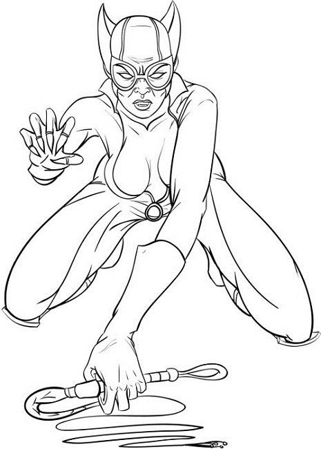catwoman coloring pages | woman | Pinterest