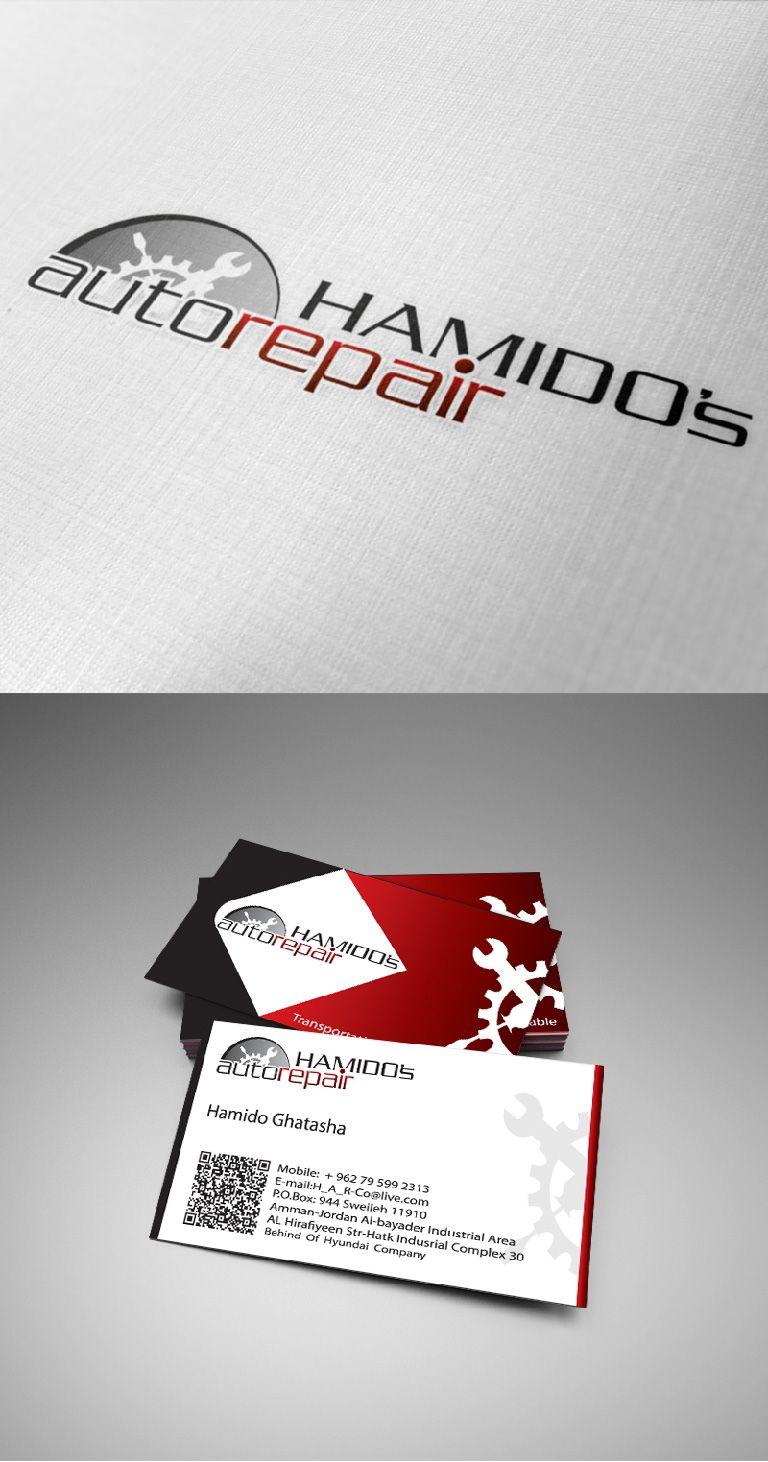 Hamidos auto repair business card design and logo branding my hamidos auto repair business card design and logo branding colourmoves Choice Image