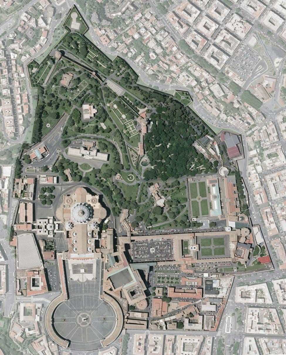Aerial Map of Vatican City This isnt quite the whole thing but