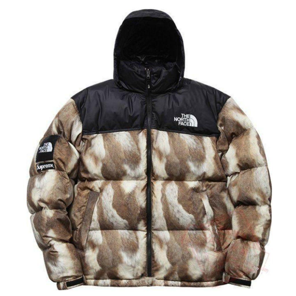 aa5a45a9f0 Supreme x The North Face Nuptse Jacket Fur Print | Sup ...