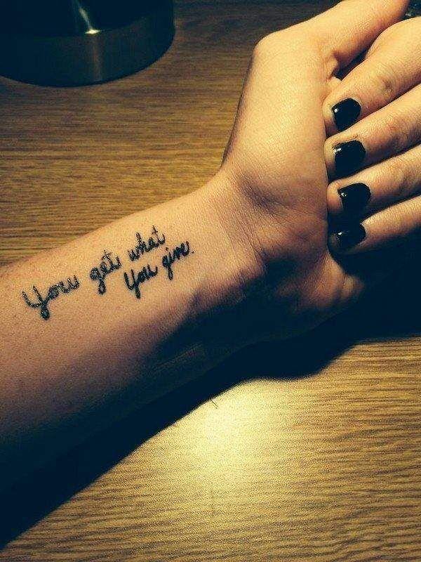 Short quotes tattoo tumblr