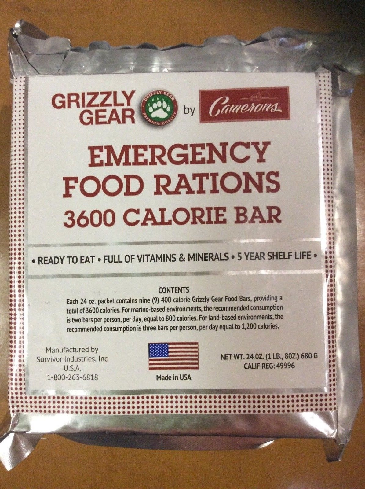 grizzly gear emergency food rations