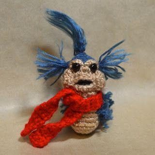 Someone who crochets please make me thiiiiiissss!!?? -The Labyrinth Worm. Free crochet pattern.