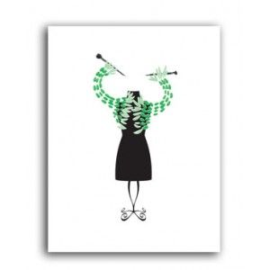 Knitted Shrug Greeting Cards