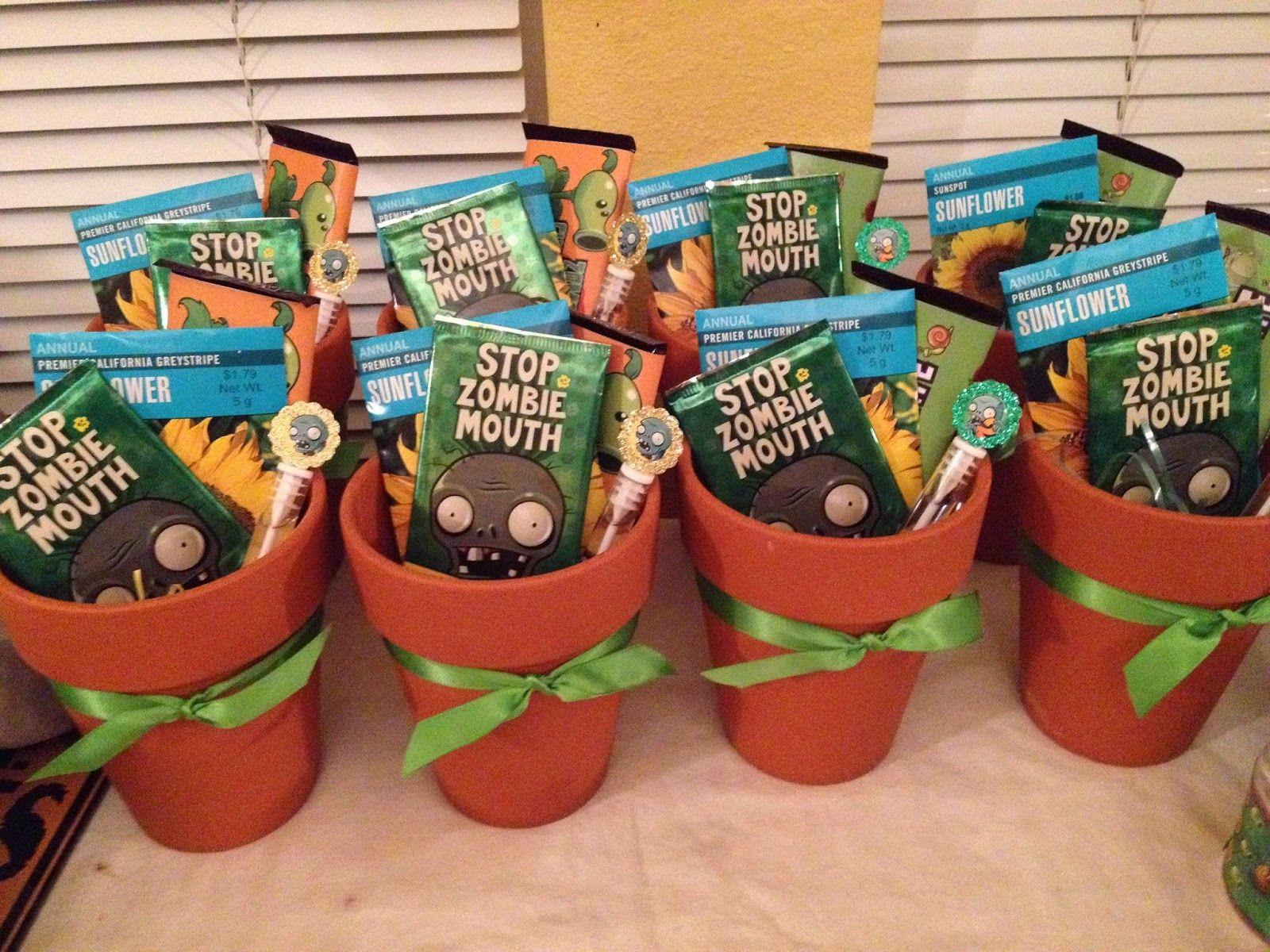 Zombie party ideas zombie party supplies 3 - Cranberry Corner Conor S Plants Vs Zombies Party