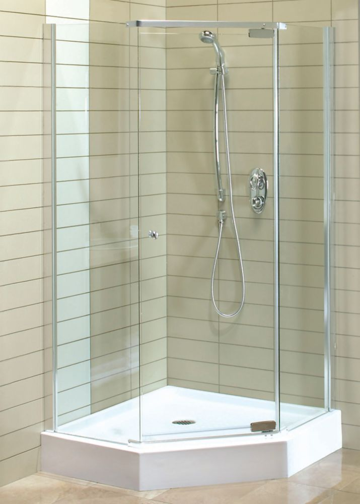 Magnolia 38 Inch X 38 Inch X 77 Inch Acrylic Shower Stall Shower