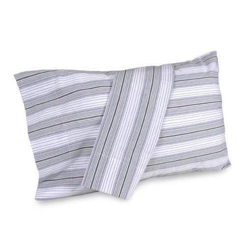 """Nautica Seagrove Standard Pillowcases by NAUTICA. $29.99. Material Content: 100% Cotton Yarn Dye. Nautica Seagrove Standard Pillowcases is a 100% yarn dye cotton stripe pillowcase set. In stripes of navy, green, blue, white, and chambray makes this a great addition to your bedroom. This color combination allows this to work for many different bedding ensembles. Standard Pillowcase Size 20"""" x 30"""".. Size: Standard (Pair) - Color: Multi. Machine Washable. Nautica S..."""