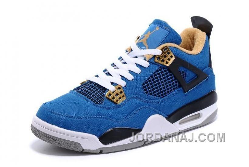 size 40 d468b f2711 Eminem X Carhartt X Air Jordan 4 Canvas Game Blue Black-White-Grey