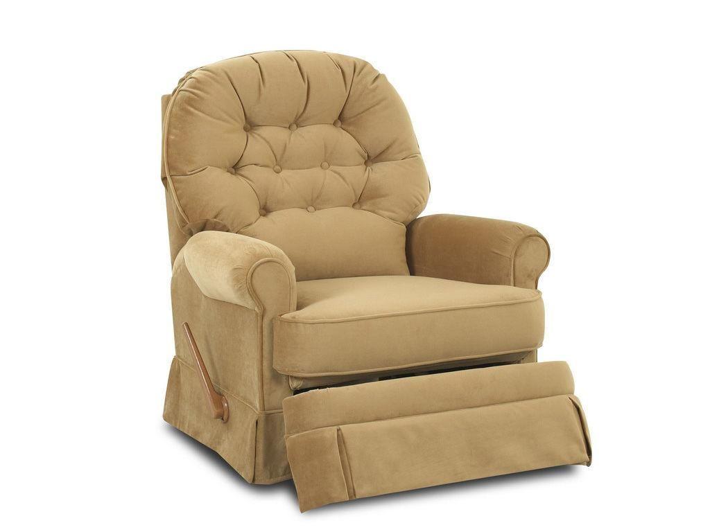 Klaussner Living Room Ferdinand Swivel Rocker Recliner (looks Comfortable  But Different Fabrics??)