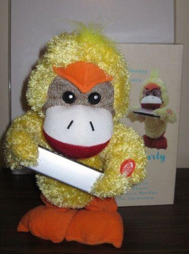 Gemmy 11 Sock Monkey Cracker Barrel Excl Chicken Dance Harmonica
