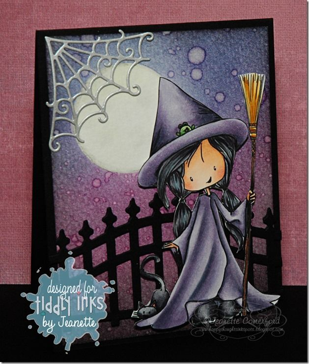 Happy Thoughts & Inkspots: Tiddly Inks Fab Friday Too Cute to Spook