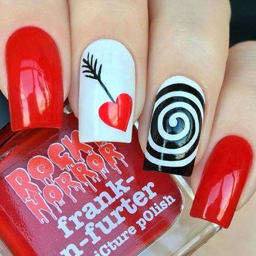 14 Super Pretty Valentine\'s Day Nail Designs - Hashtag Nail Art ...