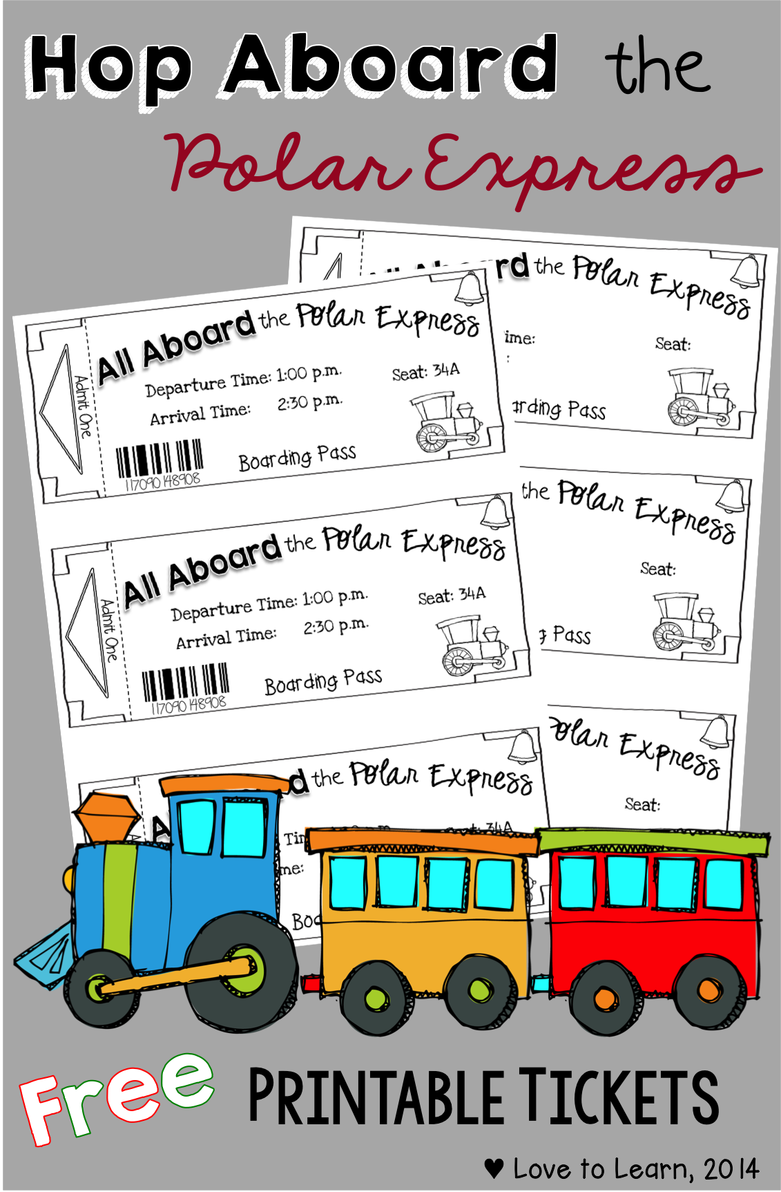 Hop Aboard The Polar Express With These Free Printable