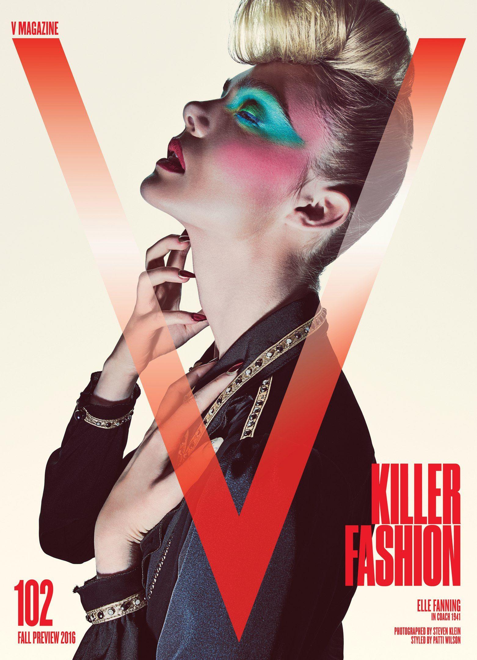 Elle Funning for V magazine cover