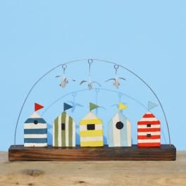 beach huts in a row - click to view