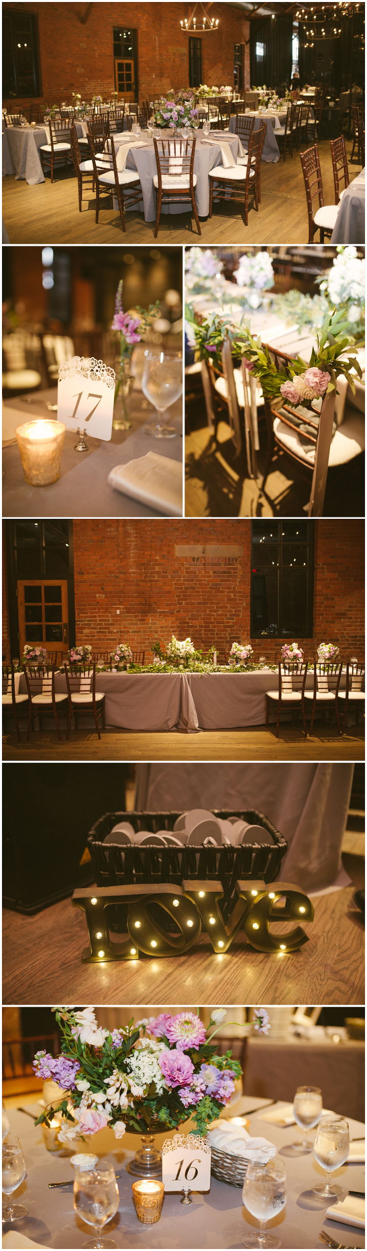 Wedding reception details High Line Car House Columbus Ohio