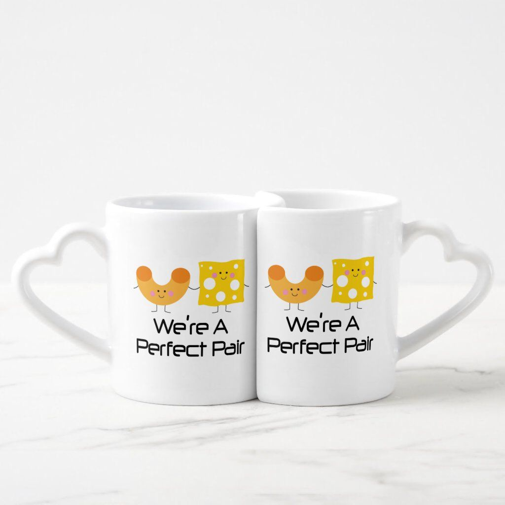 Matching Couples Mac And Cheese Mug Set