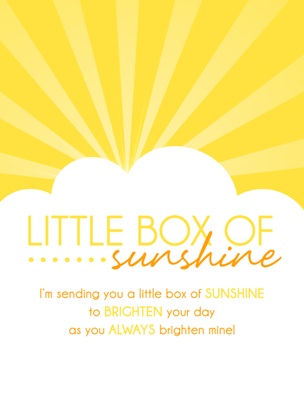 10 Things To Put In A Sunshine Box By Lindi Haws Of Love The Day