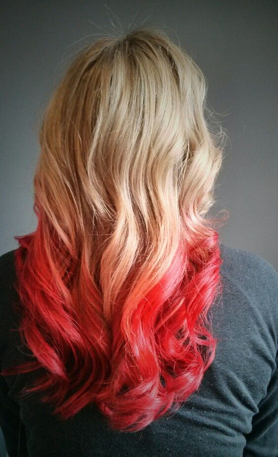 Blonde To Red Ombre Vivid Hair Color Hair Color Pastel Hair Styles