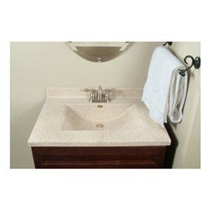 Imperial Vw2522capss Center Wave Bowl Bathroom Vanity Top 25 Inch