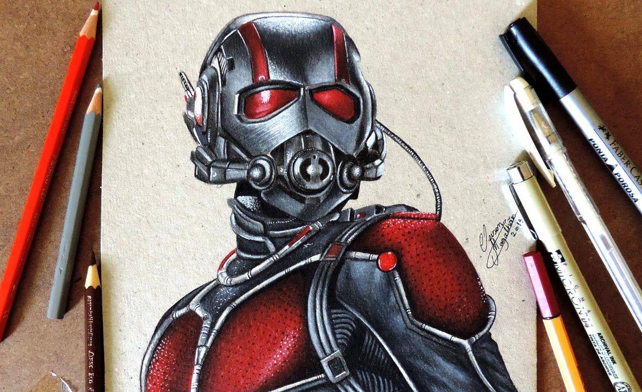 Drawing Ant Man   Desenhando o Homem Formiga