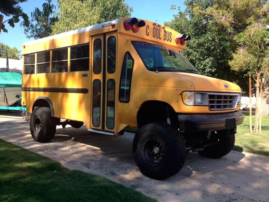 4WD school bus Vehiculos Overland Pinterest School