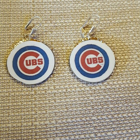 Cubs earrings Chicago cubs Jewelry Earrings