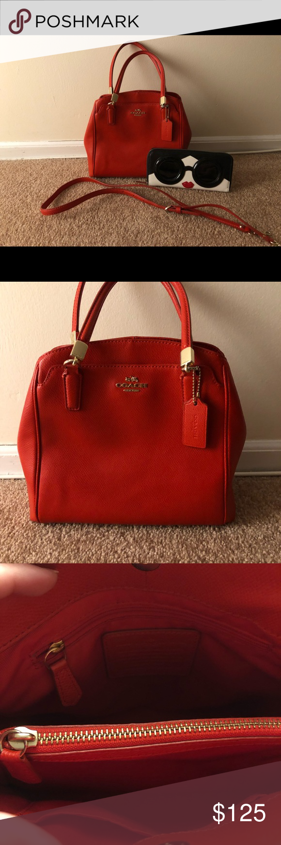 Red Purse Very Pristine Coach Bag f323e8785b1fa