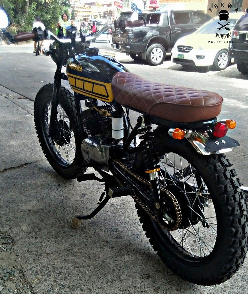 Bike Feature Yamaha Rs100 Street Tracker By Tokwa Party Garage Street Tracker Custom Bikes Cafe Racers Yamaha Cafe Racer