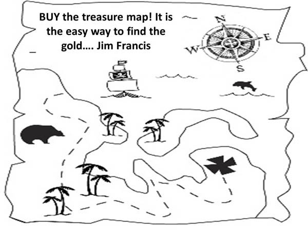 Find Cave Full Of Gold With Treasure Map Coloring Page
