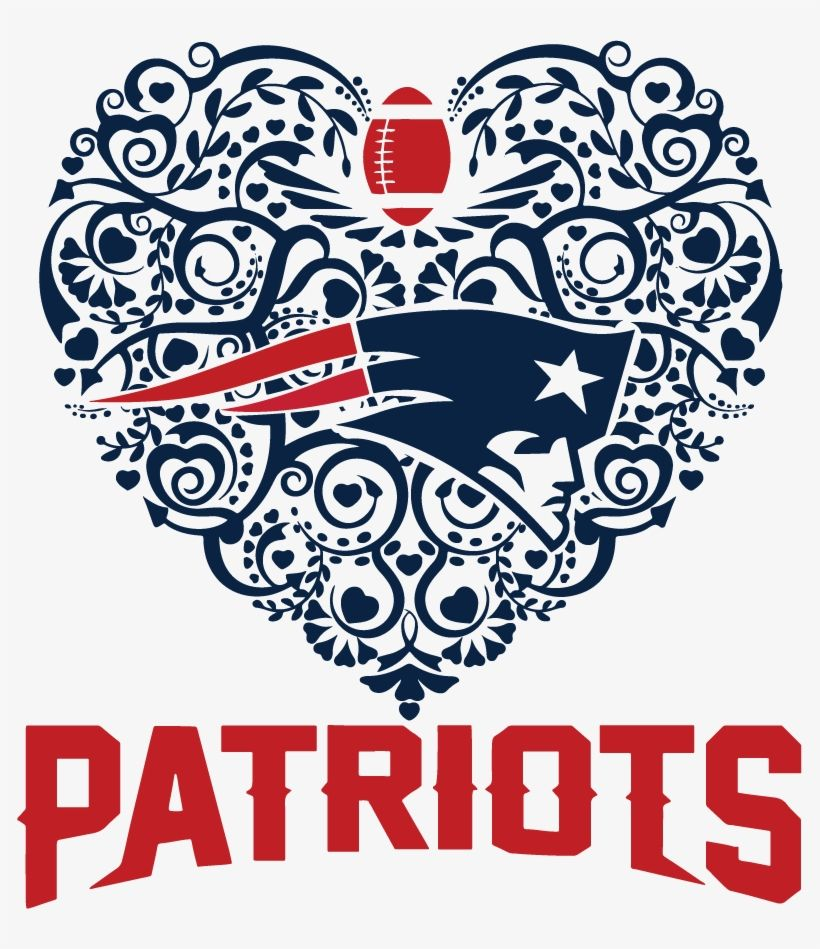 Patriots Football Sport Heart Dxf Svg New England