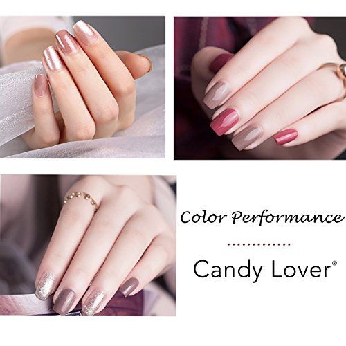 Look At This Candy Lover Professional Gel Nail Polish Por Clic Pastel Colors Set With